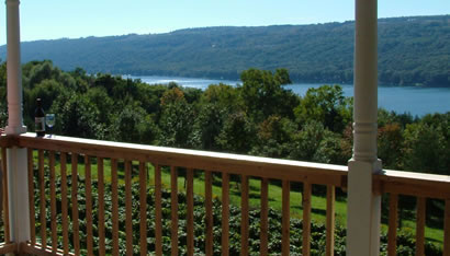 View of Keuka Lake from our Deck